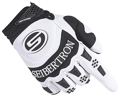 Seibertron Herren Handschuhe Dirtpaw Race Fahrrad Handschuhe sporthandschuhe für Radsport MTB Mountainbike Outdoor Sport Bike Gloves (weiß, M) - 3