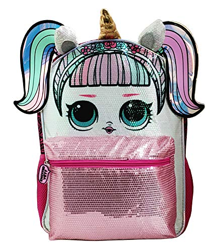 LOL Large 16' Unicorn Sequin Backpack New with Tags