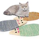 Nobleza Rascador Gato,Juguete Rascador para Gato de sisal Natural y cartón,1 Pcs Durable Forma de ratón Rascador para Gato