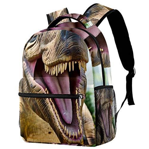 Mochila de viaje con diseño de dinosaurio, con boca abierta, para mujeres, adolescentes, niñas y niños