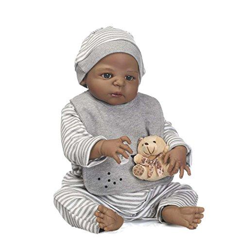 TERABITHIA 56cm Black Rare Alive Collectible African-American Reborn Baby Boy