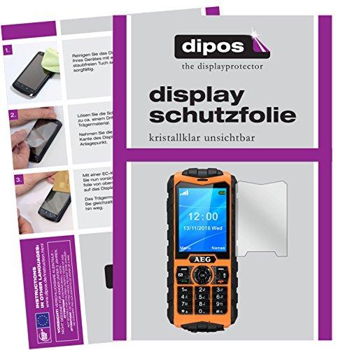 dipos I 6X Schutzfolie klar kompatibel mit AEG M550 Folie Bildschirmschutzfolie