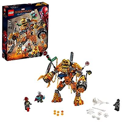 LEGO 76128 Marvel Spider-Man Molten Man Battle with a Buildable Figure and Mysterio Minifigure, Spiderman: Far From Home Movie