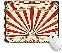 KAPANOU マウスパッド、Premiere Sunbeam Show Circus Vintage Festive Poster TexturesPartyのボーダーペーパー おしゃれ 耐久性が良い 滑り止めゴム底 ゲーミングなど適用 マウス 用ノートブックコンピュータマウスマット