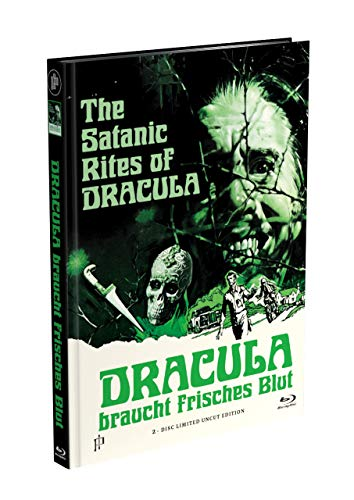 DRACULA BRAUCHT FRISCHES BLUT - 2-Disc Mediabook Cover G [Blu-ray + DVD] Limited 88 Edition - Uncut (in HD neu abgetastet)