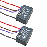 HQRP 2-Pack Ceiling Fan Capacitor CBB61 4.5uf+5uf+6uf 4-Wire UL Listed