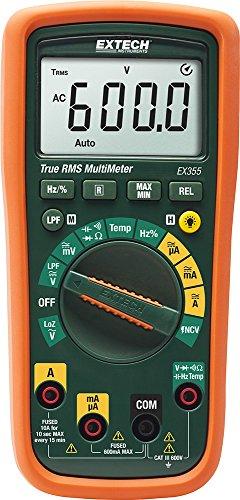 Extech EX355 Professionelles Multimeter mit TRMS und NCV-Detektor und Thermometer