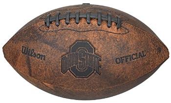 NCAA Ohio State Buckeyes Vintage Throwback Football 9-Inches