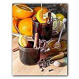 FEWFQ Frutas Naranjas Vino Tinto Cóctel Lienzo Pintura Carteles Arte Moderno Cuadros de Pared para Cocina Habitación Decoración del hogar -20X28 Pulgadas Sin Marco 1 Uds