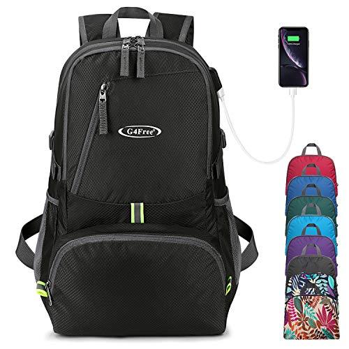 G4Free Faltbarer Rucksack 40L Ultraleichter Tasche Wanderrucksack Trekkingrucksack Reißen und Wasserdicht Verpackbarer für Reisen Camping Radfahren Multipurpose Daypack