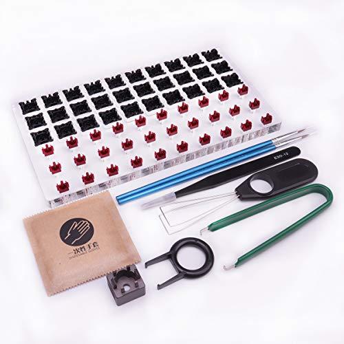 30 interruptores probador abridor de acrílico estación de lubricante DIY cubierta plataforma de eliminación de teclas extractor para teclado mecánico Cherry personalizado