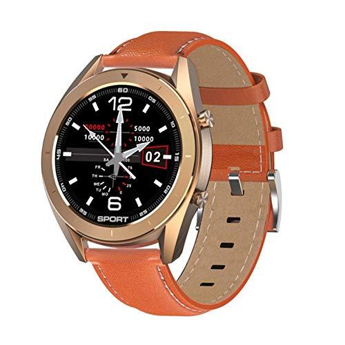 zyz Nuevo DT99 Smart Watch IP68 Impermeable Redondo Pantalla De Alta Definición ECG Detección Fitness Tracker Men's Y Women's Life Sports Watch,Naranja