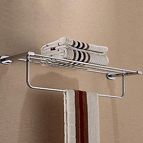JPVGIA Toallero de acero inoxidable, 1 pieza, toallero con doble pared, accesorios de baño, toallero