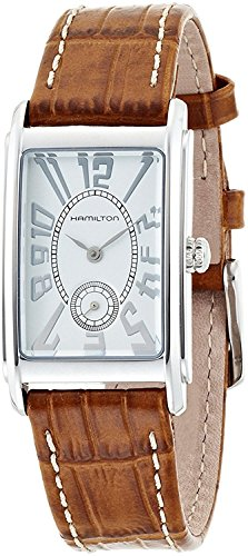 Hamilton Ardmore Silver Dial Leather Strap Ladies Watch H11411553