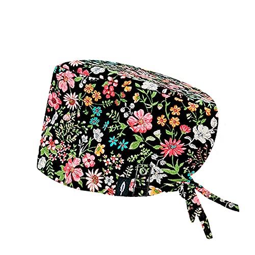 Modelo: ABEY CON SISTEMA CLICK - Pelo Largo -Gorro de Quirófano ROBIN HAT con sistema de sujeción con click - Ajustable - 100% algodón (Autoclave)