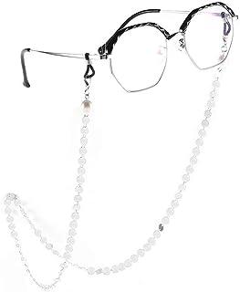 Yienate Bohême Chaînes de lunettes pour femme avec perles et paillettes Accessoires de fixation de lunettes – Support de s...