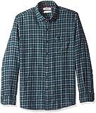 Amazon Brand - Goodthreads Men's Standard-Fit Long-Sleeve Plaid Flannel Shirt, navy green heather, XX-Large