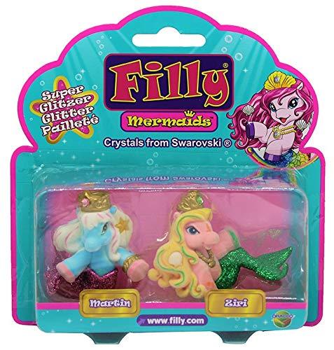 Dracco Filly Mermaids Glitzer Verschiedene 2er-Pack für Kinder (Martin + Ziri)