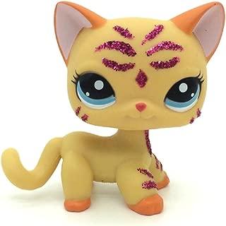 kenven Littlest Pet Shop LPS Purple Glitter Sparkle Standing Ranch Cat Blue Eyes #2118