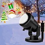 Albrillo Luces de Proyección LED para Navidad - Lámpara de Proyector con 16 Diapositivas Cambiables, IP44 Impermeable,...