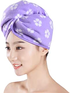Super-Absorbent Dry Hair Cap Shower Cap Female Dry Hair Towel Purple
