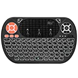Mini Keyboard,Rii F8 Wireless 2.4G Keyboard with Touchpad Mouse Combo,IR Learning,Backlit Keyboard Controller