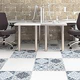 EXTSUD 4 stück Fliesenaufkleber PVC Fliesenfolie Mosaikfliesen Folie Aufkleber Bodenaufkleber Selbstklebende DIY Fliesenbilder für Badezimmer Küche, Fliesen, Wand, Deko 30x30cm (Mediterran-Stil)