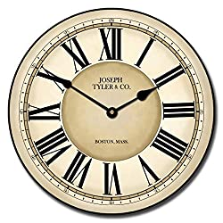 Waterford Wall Clock, 8 Sizes, Great for Bedroom, Living Room, Kitchen, Whisper Quiet, Handmade in The USA