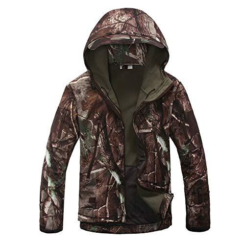 DaiHan Giacche Tattico Militari Softshell da Uomo Impermeabile Vento con Cappuccio,Escursionismo Campeggio Giubbini Multitasche per Escursioni di Caccia 5 L