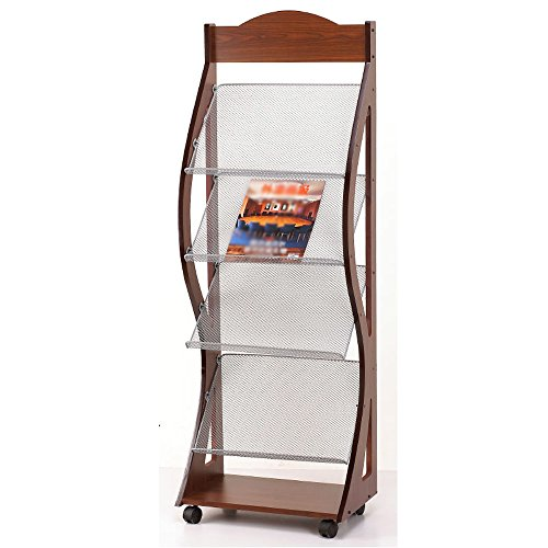 Porte-Revues Etagères De Magasin Woody Simple Landing Bookstand It Can Move Display Stand