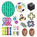 Fidget Set De Juguetes Sensoriales,22 Piezas Fidget Toys Juguetes Para La Ansiedad Juguetes Los Dedos DescompresióN Sensorial Alivio Del EstréS Y Juguetes Contra La Ansiedad Para Adultos NiñOs 22pack de UALSD