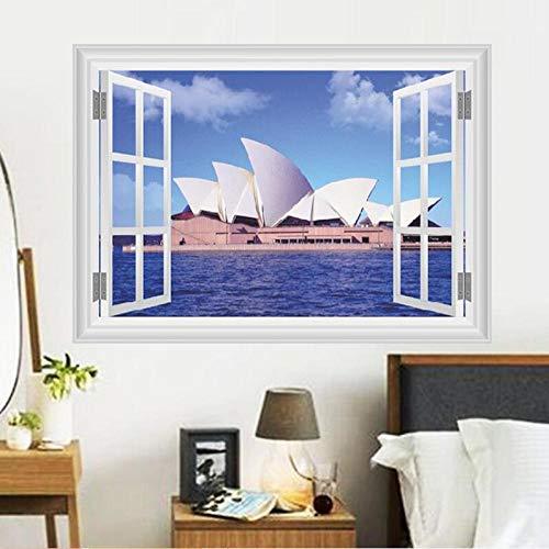 Behang vliesbehang, 3D, zonder naden, eenvoudige 3D-ramen, muursticker, voor woonkamer, slaapkamer, kantoor, slaapkamer, decoratie, thuis, landschap, bos, ruimte, PVC, muursticker @ 300 x 210