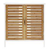 Premier Housewares - Armario de bambú para Pila de baño, Color Blanco