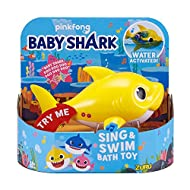 SING THE SONG TOGETHER: Sings the famous Baby Shark song. ROBO TECHNOLOGY: Water activated carbon sensors AUTO SWITCH-OFF: 4 minutes sleep mode (take out, put back in) 3x AAA batteries included Available in 3 vibrant colours