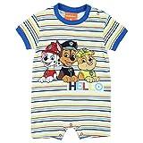 Baby Strampler Paw Patrol Baby Spieler Kurzarm Junge Hell Blau gestreift Schlafanzug Top Kleidung, Größe: 92(24M)
