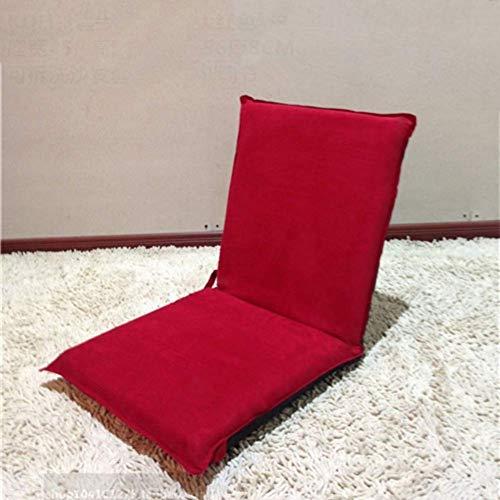 YLCJ Wildleder Tatami Boden Stuhl, Zaisu Mobile Window Small Klappstuhl Bett Ohne Bein Klappstuhl Japanische Meditation Boden-Rot