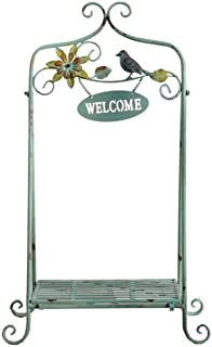 RR-Flower Stands Flower Stand Wrought Iron Plant Stand Retro Indoor Folding Floor-Standing Plant Stand Outdoor Decoration