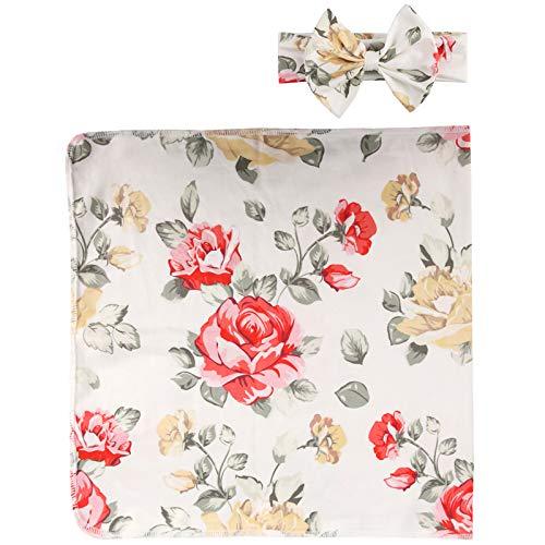puseky Baby Swaddle Wrap - Manta para recién nacido, diseño floral