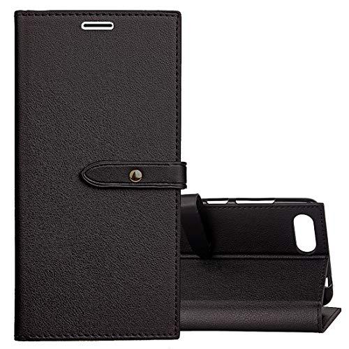 HUANGPUJIAN Schutzhülle für Asus Zenfone 4 Max Pro ZC554KL Business Style Leder Tasche mit Halter und Kartenfächer und Brieftasche