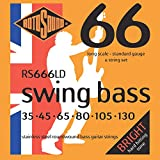 Rotosound RS666LD Swing Bass 66 Stainless Steel 6 String Bass Guitar Strings (35-130)