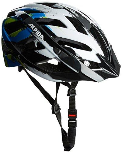 ALPINA PANOMA Fahrradhelm, Unisex– Erwachsene, white cyan green, 52-57