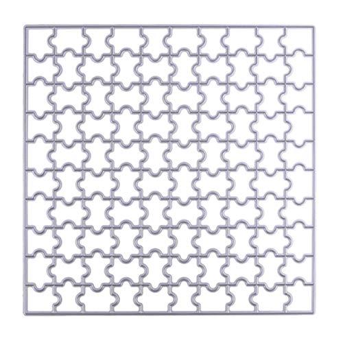 Oulensy 150 mm Puzzle Troqueles de Corte álbum de Recortes de Papel Tarjeta del Arte Dies DIY Decorativo Estampado sobre Metal de la Plantilla Dies Cortador