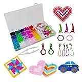 Juego de cuentas para planchar, 24 colores 5 mm perlas de agua con diversos accesorios, juego de joyas para niños, placa de accesorios, cuentas en caja organizadora, juego de Navidad para niños