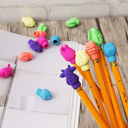 Mr. Pen- Erasers, Cap Erasers, 60 Pack, Animal Eraser Caps, Erasers for Kids, Pencil Eraser, Pencil Erasers Toppers, Eraser Pencil, Cute Erasers, Colorful Erasers, School Supplies, Pencil Top Erasers Photo #7