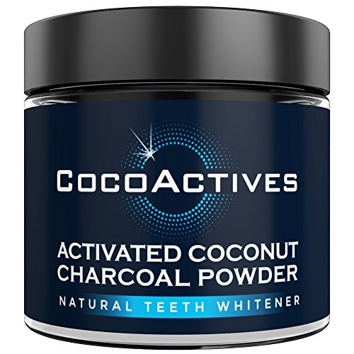 Teeth Whitening Charcoal Powder by CocoActives - Activated Charcoal Teeth Whitening - Toothpaste Alternative For Sensitive Teeth