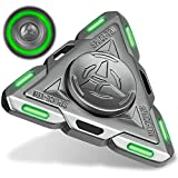 Spaceship Fidget Spinner Absorb Solar Light Glow In The Dark Spinning Toys Sensory Gadget Finger Hand Spinner Metal With Luminous Light,Best Gift ADHD Anxiety Focus Party Favors Prizes for Kids Adults