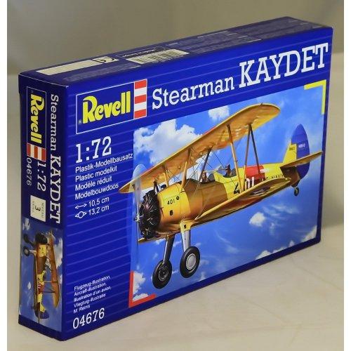 Revell Modellbausatz Flugzeug 1:72 - Stearman Kaydet im Maßstab 1:72, Level 3, originalgetreue Nachbildung mit vielen Details, 04676