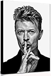 David Bowie - Shush - Canvas Wall Art Framed Print Mounted on a hard backed sturdy frame Only using the best canvas and Epson none fade Inks Handmade and supplied by Fab Canvas