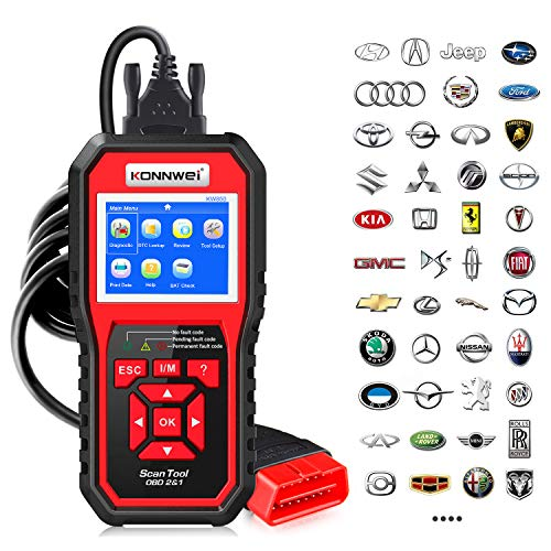 KONNWEI KW850 Professional OBD2 Scanner Auto Code Reader Diagnostic Check Engine Light Scan Tool for OBD II Cars After 1996 (Original) …