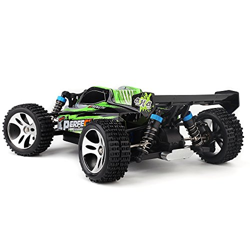 RC Auto kaufen Buggy Bild 4: s-idee® 18130 A959-A RC Auto Buggy Monstertruck 1:18 mit 2,4 GHz 35 km/h schnell, wendig, voll digital proportional 4x4 Allrad WL Toys ferngesteuertes Buggy Racing Auto*
